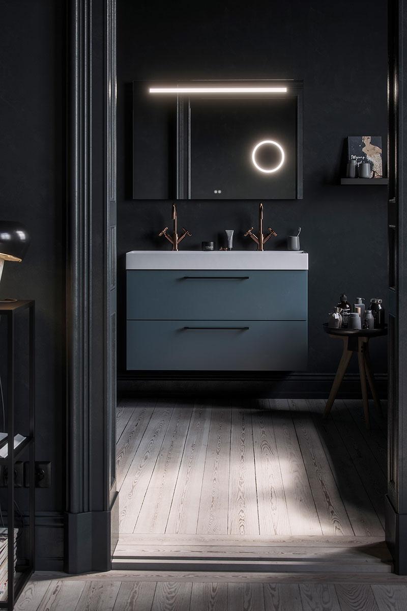 badkamer meubel donker