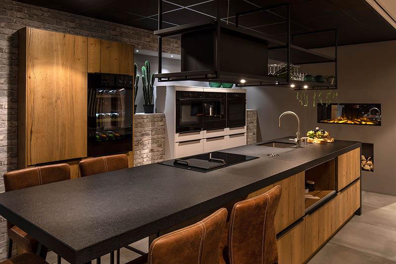 keuken hout stoer